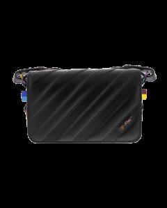 Matelasse Mini Flap Bag Black