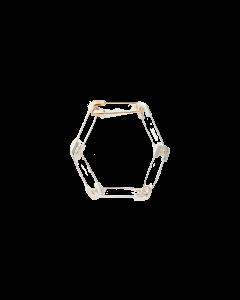 Safety Pin Link Bracelet Silv