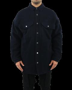Oversized Shirt Coat  Navy Blu